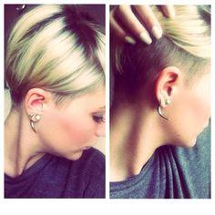 Undercut Hairstyles, Cute Hairstyles, Hairstyle Ideas, Hair Ideas, Long Pixie, Pixie Bob, Longer Pixie Haircut, Blonde With Dark Roots, New Haircuts
