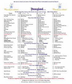 Disneyland pressed Pennies Check list (print it off and take it with you to the park) :D
