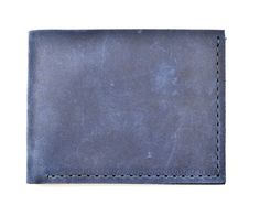 Leather Wallet Minimalist - Navy Blue www.doodkaleathergoods.com