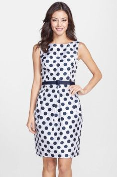 meow -- Belted Polka Dot Jacquard Tulip Dress  -- http://www.hagglekat.com/belted-polka-dot-jacquard-tulip-dress/