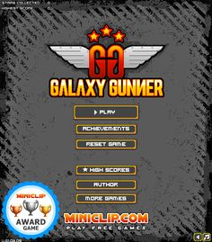 Play #GalaxyGunner. Steer your space ship and shoot the enemies throughout the galaxy, but don't forget to upgrade your ship.