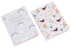 Wylie Set of 2 Mermaid & Unicorn Notebooks Happy Larry Craft Supplies Online, Alice In Wonderland, Party Planning, Party Supplies, Wedding Decorations, Arts And Crafts, Stationery, Notebooks, Gifts