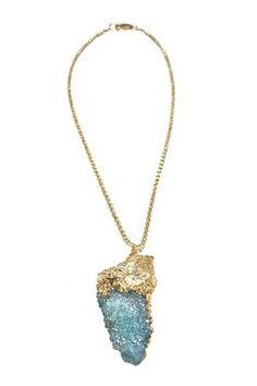 blue spirit quartz: necklace