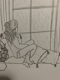 Art Inspiration – Art World 20 Art Drawings Sketches Simple, Girl Drawing Sketches, Sad Drawings, Girly Drawings, Pencil Art Drawings, Sketch Art, Easy Sketches To Draw, Sad Girl Drawing, Pencil Sketches Easy