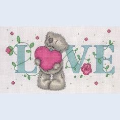 Tatty Teddy Love - Me to You - counted cross stitch kit Coats Crafts