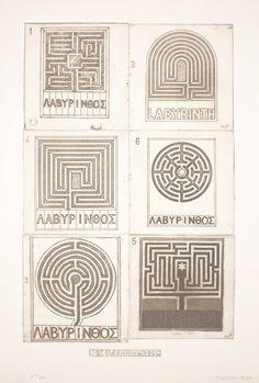 Joe Tilson. Six Labyrinths, 1976.