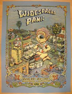 ISO 2008 Widespread Panic - LA Concert Poster by Marq Spusta a/p