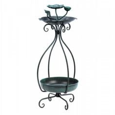 Let your outdoor living space bloom with nature! On top the bird feeder features a flower-shaped basin sprouting with flower buds. Metal Birdfeeder And Planter by Custom Made. Free Standing Bird Feeders, Metal Bird Feeders, Garden Bird Feeders, Humming Bird Feeders, Modern Plant Stand, Plant Stands, Buy Birds, Blooming Plants, Garden Gifts
