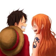 Monkey D. Luffy and Nami
