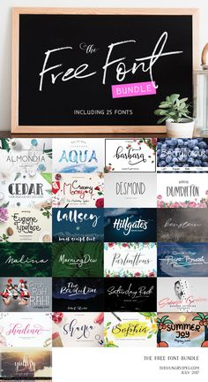 The 25 Free Font Bundle – IS HERE !!!