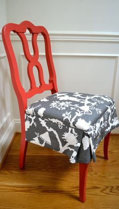kitchen chairs...need to make new slipcovers