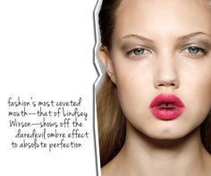 """ORCHID LIPS. Prabal Gurung make-up s/s12 by Charlotte Tilbury- inspired by Nobuyoshi Araki - """"an orchid bursting from within"""""""