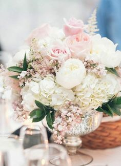 Roses bouquet of peonies pastels