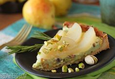 Pear Tart with Pistachio Pastry Cream