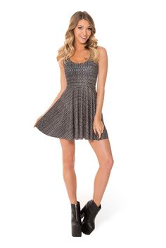 Chainmail Scoop Skater Dress (WW $85AUD / US $80USD) by Black Milk Clothing