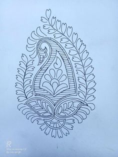 Peacock Embroidery Designs, Paisley Embroidery, Embroidery Motifs, Mehndi Art Designs, Mehndi Designs For Hands, Hand Designs, Motif Design, Pattern Design, Fabric Paint Designs