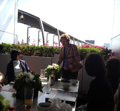 Southern California organic gardening master Pat Welsh giving a talk at the Garden Show media reception!