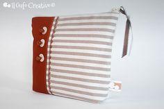 Beige striped pochette 2 | Flickr – Condivisione di foto!
