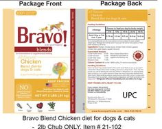 ** ALERT ** - RECALL - Bravo Recalls Select Pet Foods Due to Possible Salmonella Risk | petMD - December 11, 2015