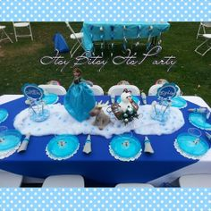 FROZEN PARTY Frozen Centerpiece Frozen cups by itsybitsyitsparty, $9.50