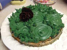 "Zentangle Kuchen "" schwarze rose"""