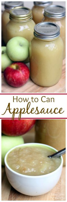 How to Can Applesauce-Recipe and Tutorial on MyRecipeMagic.com How To Can Applesauce, Freezing Applesauce, Canned Applesauce, Homemade Applesauce, Applesauce Recipes Canning, Apple Sauce Canning, Apple Sauce Homemade, Healthy Apple Sauce Recipes, Easy Apple Sauce