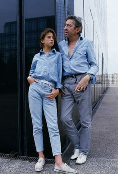Serge Gainsbourg with his daughter Charlotte, whose mother is Jane Birkin, Paris, France by Tony Frank