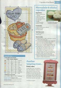Cupcake Cross Stitch Chart
