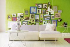 lime green living room.