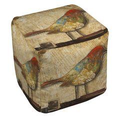 Bird of Collage 2 Ottoman