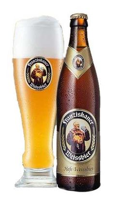 Franziskaner is a pretty popular German Weiss Bier (wheat beer). There are a few different types but all are very thick & flavoursome. They dehidraight u fast an give a pounding hangover but are nice to drink ...