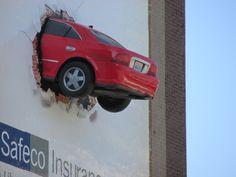 Safeco Insurance - 3D Billboard Advertising Solutions - MetroMedia Technologies