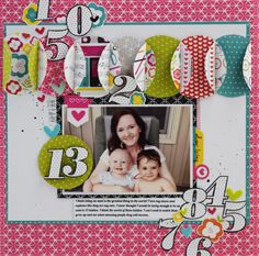 Bella Blvd IF Bright & Brave collection. 13 layout by creative team member Becki Adams