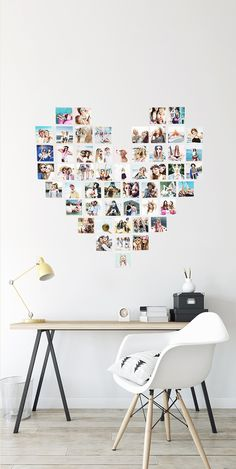 Heart Photo Wall with Printiki Prints. Create a Heart Photo Wall from your favorite photos! Upload 53 photos and receive your photo prints together with a Heart Photo Wall Collage Template with instructions. Decorate your home has never been so easy and fun! #heart #heartwall #walldecor #walldecoration #homeideas #homeinterior #roomgoals #heartshaped #walldecorideas #wallideas #homedecor #collage #mosaic #wallcollage #wallmosaic