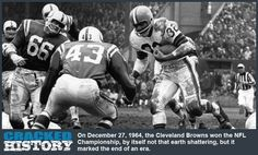 96d4e8445 December 27, 1964: Cleveland Browns Win NFL Championship! - A Brief History  On