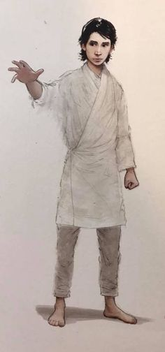 """cerseidm: """" Official art of young Ben Solo From The Art of Star Wars: The Last Jedi book """""""