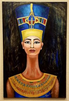 Perfect home decor for ancient art fans. Queen Nefertiti - Original Painting