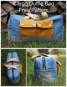 Here are 50 free sewing patterns for tote bags, shopping bags, backpacks, duffle bags and beach bags. To go to a pattern : Scroll down th. Duffle Bag Patterns, Bag Patterns To Sew, Sewing Patterns Free, Free Sewing, Sewing Tips, Sewing Projects, Bag Pattern Free, Pouch Pattern, Tote Bags