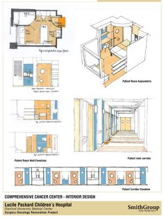 oncology center floor plans | Pediatric Oncology/BMT Center Conceptual Drawings