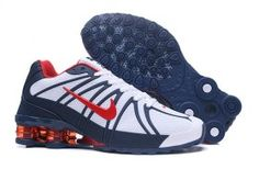 01d5f404fe8c60 Advanced Nike Shox Kpu White Red Navy Blue Shox Nz Mens Athletic Running  Shoes Trainers Nike