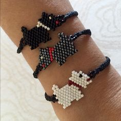 Super Cute Hand Made Dog Bracelets *Hand made from artisans of Jalisco, Mexico.         *Great for yourself or as a gift.                                 *Huichol Art.                                                                *Bracelet is adjustable                                                *Made of waxed thread and fine beads.                   *Price is FIRM Jewelry Bracelets