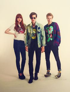 Karen Gillan, Matt Smith, Arthur Darvill << Some of the awesomest people in the world. Wring one. again.