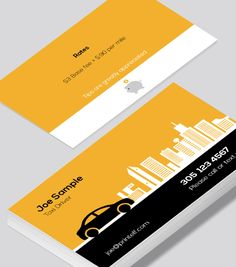 Private Taxi Driver Business Cards