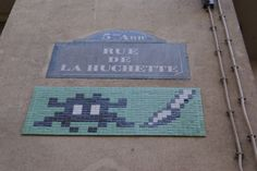 Space Invader, Rue De La Huchette, Paris, 2012
