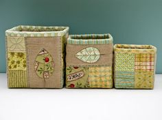 fabric boxes ♥