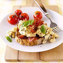 Rührei mit Tomaten und krossem Schinken PP 9