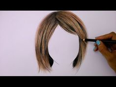 How to draw hair using colored pencils - YouTube
