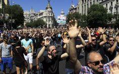 Manifestación de funcionarios hoy en Madrid