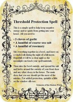 Protective thresold spell..