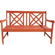 Enjoy some peace and quiet in the backyard or give your walkway a charming seat with this eucalyptus wood garden bench.Product: G...